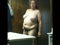 Mature chubby blonde grandma is taken naked on video by his lustful husband