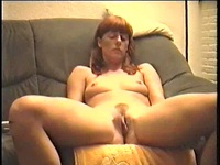 So pretty pussy lips of this lovely milf brunette are taken on video by a friend