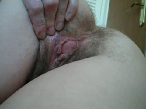 Ass spread blonde cheeks milf