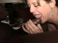 Pretty horny and lusty brunette swinger wife make an epic sex with a black dude